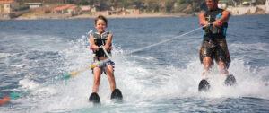 Activity for children - Water skiing