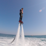 Flyboard at the port of Saint Aygulf