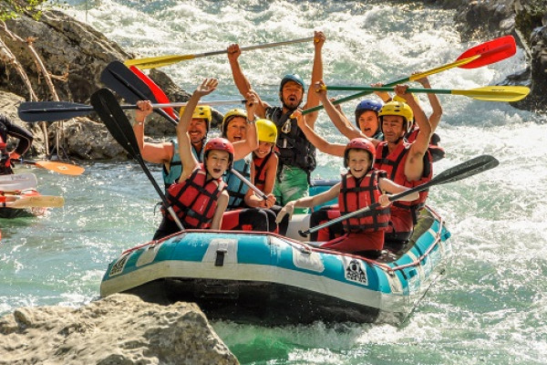 Rafting course 2h30 Accessible from 10 years old