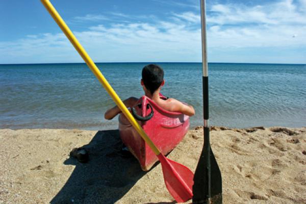 Canoe Kayak rental – Roquebrune sur Argens – Var – arrival at the sea