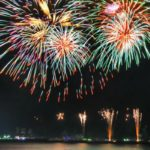 Fireworks on the water - Cannes