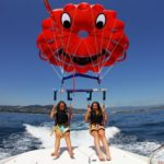Parasailing over the Mediterranean Sea - Cannes