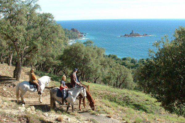 Les 3 Fers – Horse ride with a view of the Ile d'Or