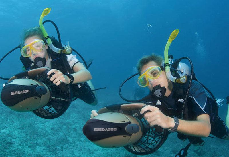 Activité scooter sous marin – Aquatic rando