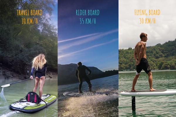 Découvrez le surf électrique à travers 3 types de board