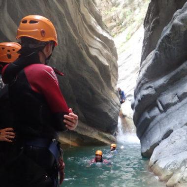 Canyoning  de la Vésubie- Demi- journée – Niveau 2