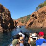 Excursion en mer, criques et calanques de l'Estérel