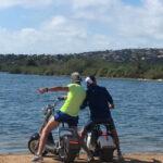 Harley électrique  sur le bord de mer - Saint Aygulf