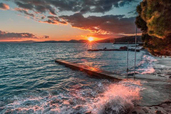 Rando littoral au coucher du soleil