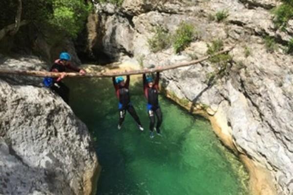 Azur Canyoning – Gorges du Loup saut