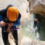 Canyoning sportif à la Clue du Riolan